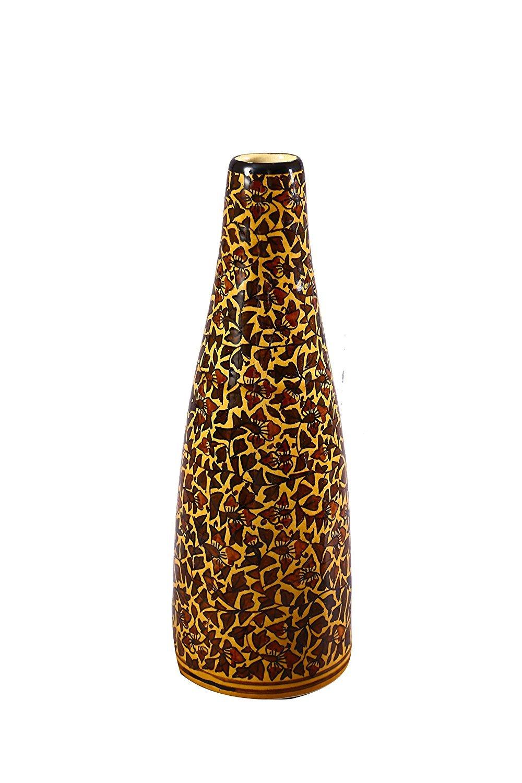 Caffeine stoneware flower Table Vase/in Musterd Leaf print … by Caffeine