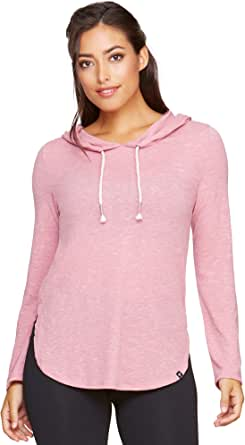 Colosseum Active Women's Cora Rounded Bottom Long Sleeve Hooded LoungeTee