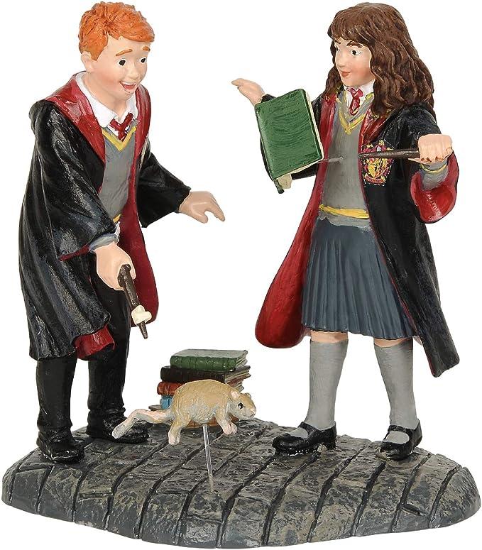 Harry Potter pueblo by D56, Figura de Hemione y Ron para coleccionar, Enesco