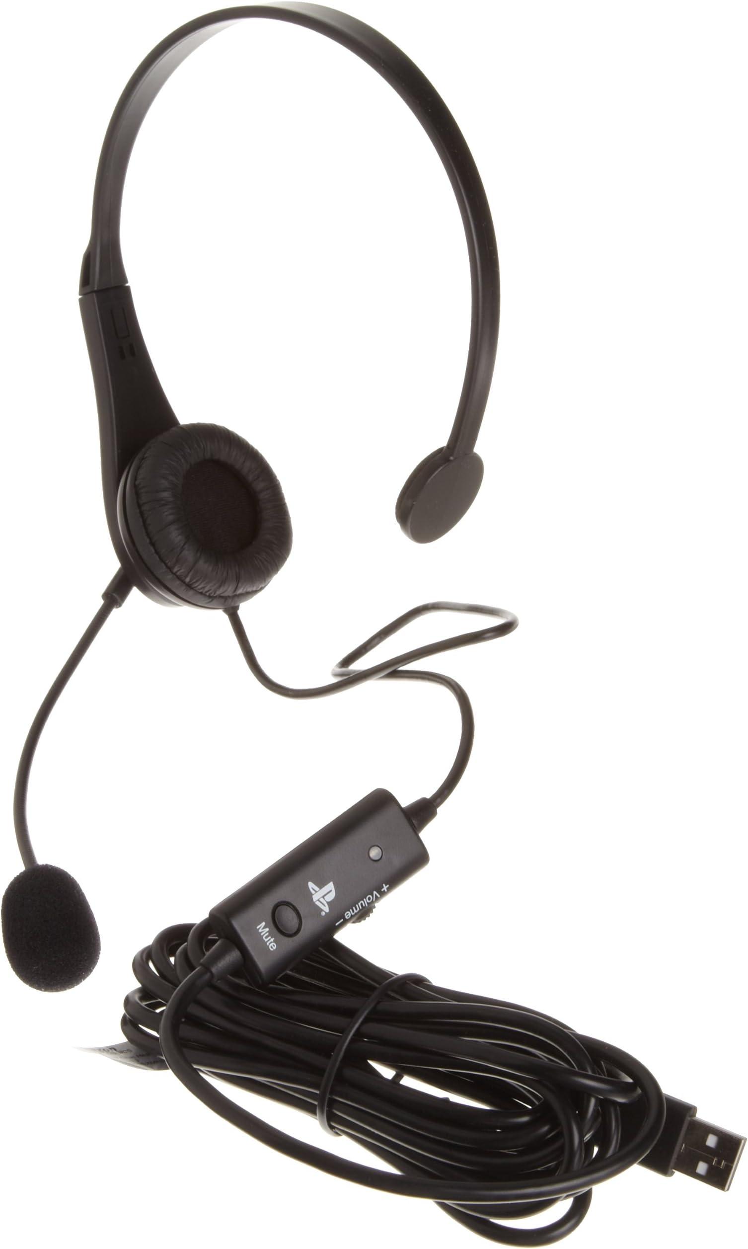 Amazon.com: AmazonBasics PlayStation 3 Wired USB Chat Headset ...