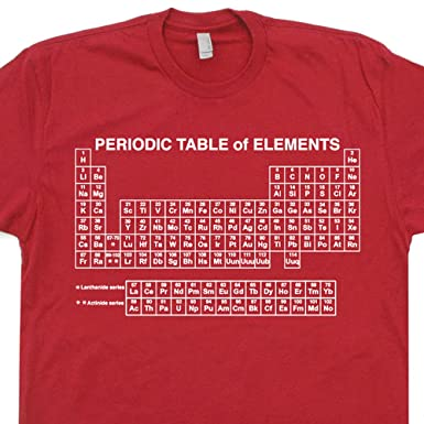Amazon periodic table of elements t shirts geek science s periodic table of elements t shirts geek science chemistry math nerd funny vintage retro urtaz Image collections