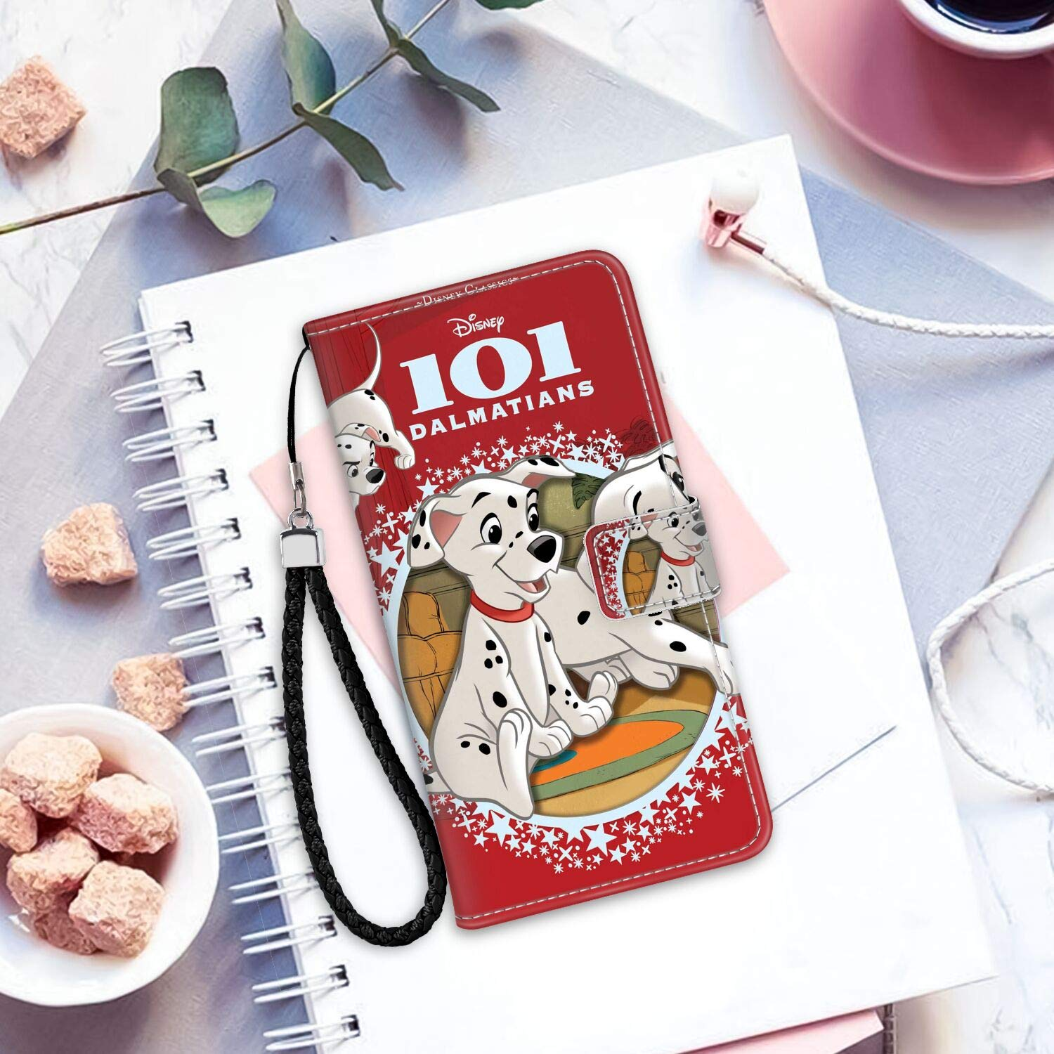 DISNEY COLLECTION 101 Small Dalmatians Wallet Case with Card Holder Compatible for Apple iPhone 10 or iPhone Xs or iPhone X [5.8 Version] Sturdy
