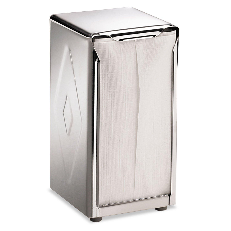 Tall Fold 3 3//4 x 4 x 7 1//2 San Jamar H900X Tabletop Napkin Dispenser Chrome Capacity: 150