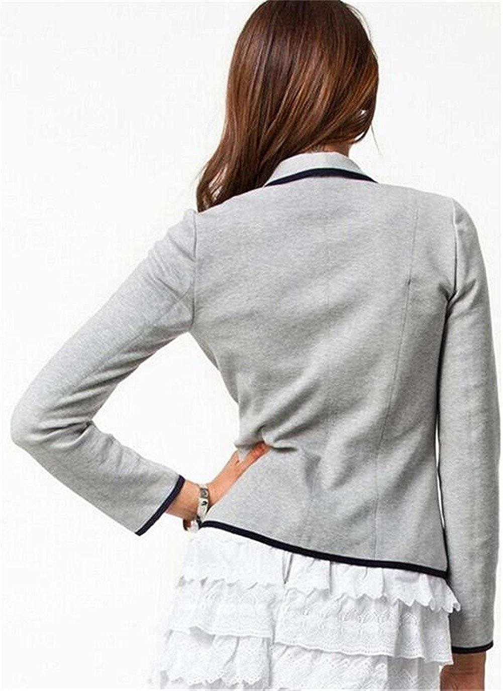 Description du produit. Minetom Femme Élégant Blazer à Manches Longues Slim  Fit OL Bureau Entreprise Veste De Costume Chic Doubles Boutons Basique  Ajusté ... bf0c9742f239