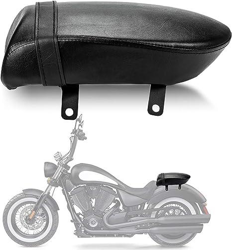 Anzio Rear Back Passenger Seat Pillion Compatible with Victory Vegas High-Ball Kingpin Zach Ness Black