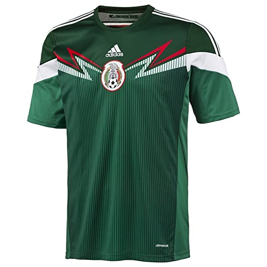 Amazon.com  Adidas Mexico Home Training Jersey Tee - Green - Mens  Sports    Outdoors 07f4fb05d