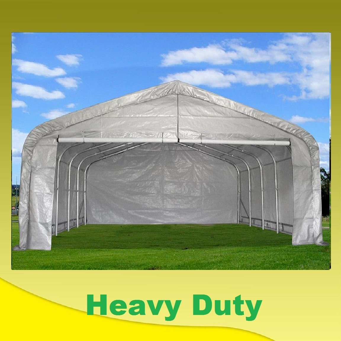 20'x22' Carport Grey/White - Waterproof Storage Canopy Shed Car Truck Boat Garage - By DELTA Canopies