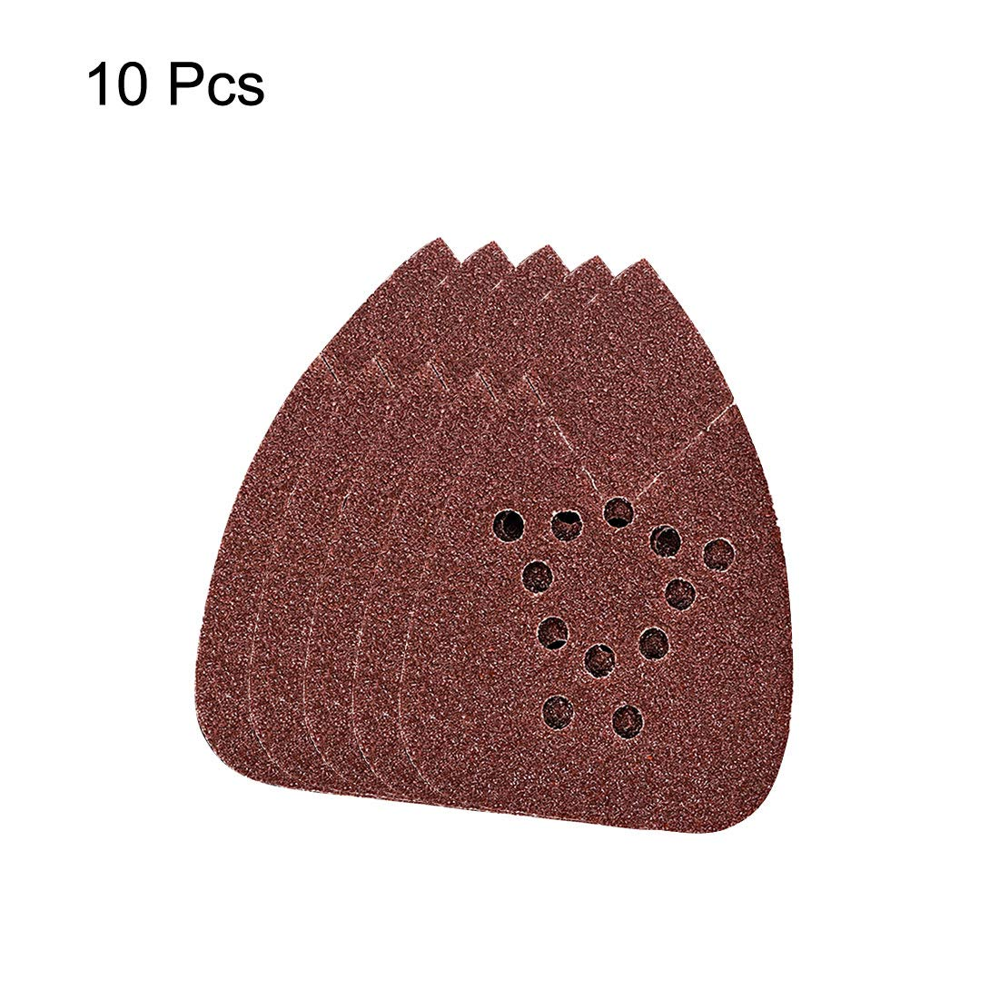 for Replacement Hook and Loop Sander Assorted,40grits 12 Hole sourcing map 10pcs Triangle Detail Sanding Sheets Sandpaper