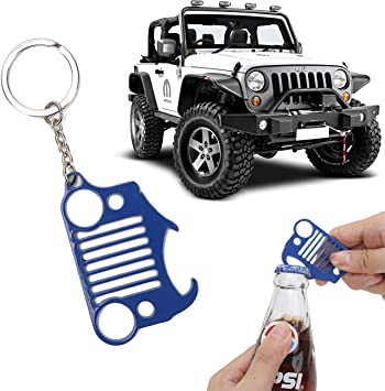 JK TJ Black 1 JKU XJ for Jeep Wrangler Grand Cherokee Compass Renagade Patriot CJ Never Rust or Break Early Bus Jeep Grille Keychain,Stainless Steel Car Keyring YJ