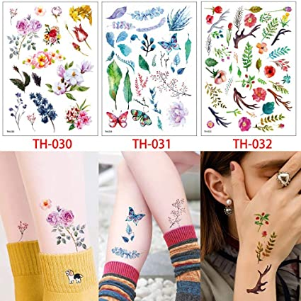 Colorful Temporary Tattoos Horses