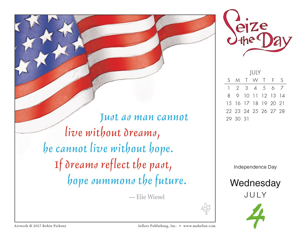 Seize The Day And Make It Yours - Robin Pickens 2018 Boxed/Daily Calendar (CB0263) by Sellers Publishing, Inc. (Image #4)