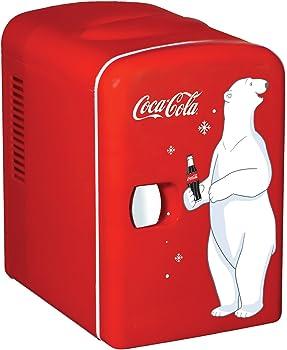 Coca-cola Compact 6-can Portable Fridge/mini Electric Cooler