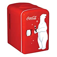 Coca-Cola KWC-4 4 Liter/6 Can Portable Fridge/Mini Cooler for Food, Beverages, Skincare-Use...
