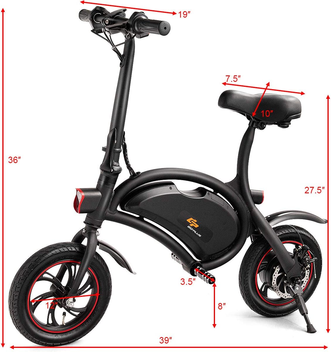 S AFSTAR Safstar Collapsible E Bike Waterproof 12 Miles Range Scooter Electric Scooter Sprinter Bike App Enabled