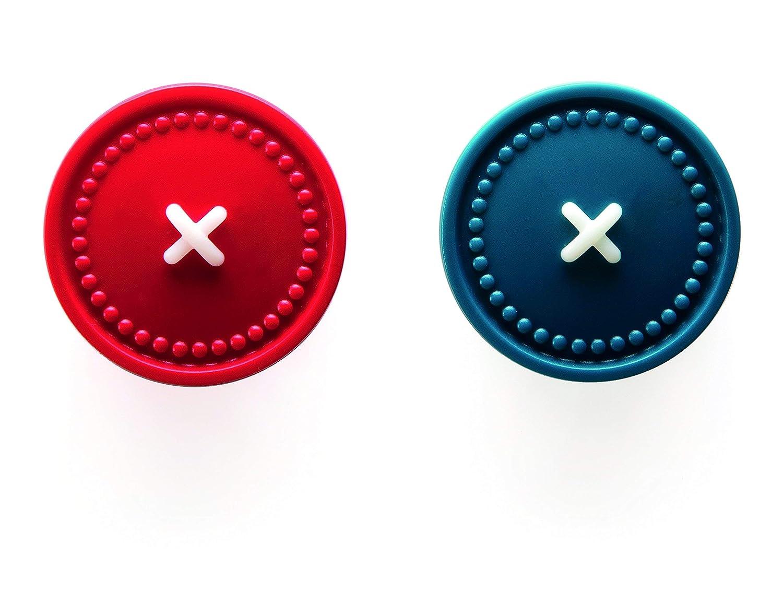 Ototo Cierre magn/ético con Soporte para Toalla Rojo//Azul
