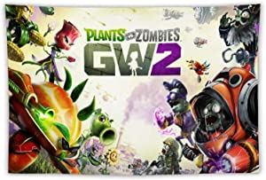 Plants Vs. Zombies- Garden Warfare 2 Poster Cartton Tapestry Wall Hanging Bedding Tapestry Game Tapestries Wall Tapestry for Bedroom Living Room Dorm Party Decor 59.1