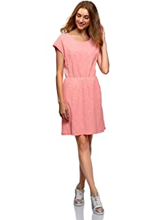 b1d095c1778aa4 oodji Ultra Damen Jerseykleid mit Gummizug in der Taille: Amazon.de ...