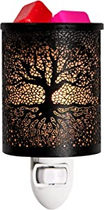 ASAWASA Metal Wall-Plug Wax Melt Warmer,Electric Wax Burner Melter Fragrance Warmer Night lamp,for Home Bedroom Kitchen Garage Gifts Décor Aromatherapy Spa 2.6