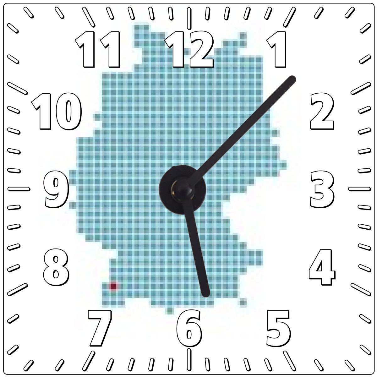 My Puzzle Design Wanduhr Markierung Von Freiburg Auf Vereinfachter