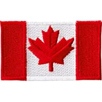 CANADA COUNTRY FLAG SMALL IRON ON PATCH CREST BADGE CANADIAN ... NEW