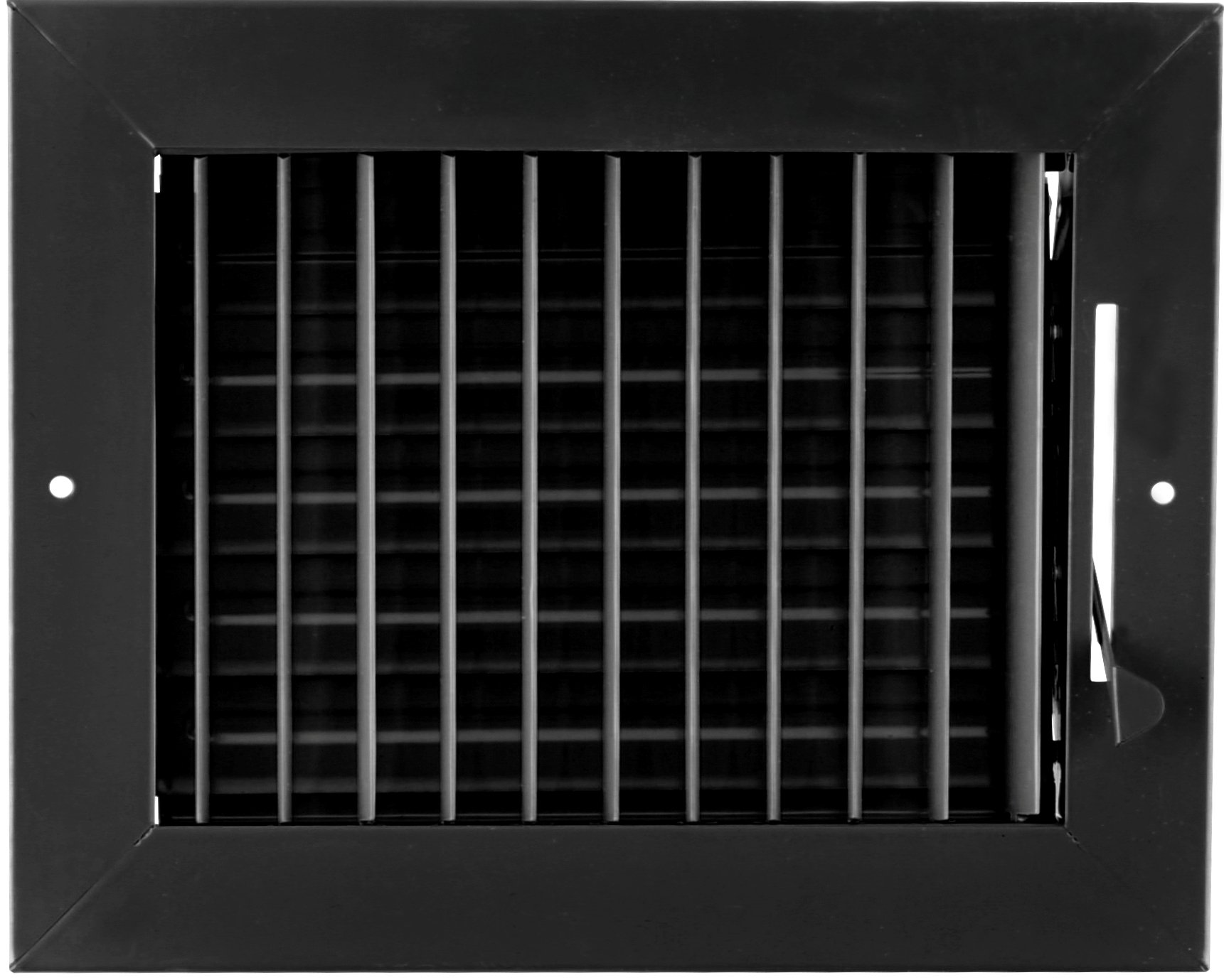 8'' X 4'' ADJUSTABLE AIR SUPPLY DIFFUSER - HVAC Vent Duct Cover Sidewall or Cieling - Grille Register - High Airflow - Black
