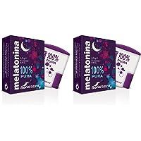 Soria Natural Melatonina Complemento Alimenticio, Pack de 2 x 90 Comprimidos de 1 Miligramo de Melatonina 100% Pura - Reduce el Tiempo para Conciliar el Sueño, el Insomnio, el Estrés y la Fatiga