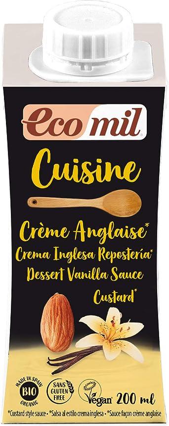 Ecomil Cusine Crema Anglaise Custard Bio 200 ml. Crema de ...