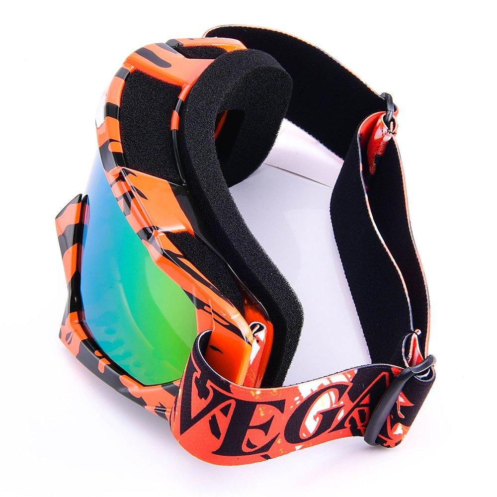 MOTORFANSCLUB Motorradbrillen Skibrille Motorrad Goggle Snowboardbrille Motocross Wind Staubschutz Fliegerbrille Ski Sonnenbrille Schutzh/ülle Goggle f/ür Wintersport F/ür Damen und Herren