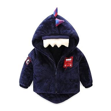 e64019b824fa Amazon.com  Mud Kingdom Cute Boys Fleece Jacket with Hood Dinosaur ...