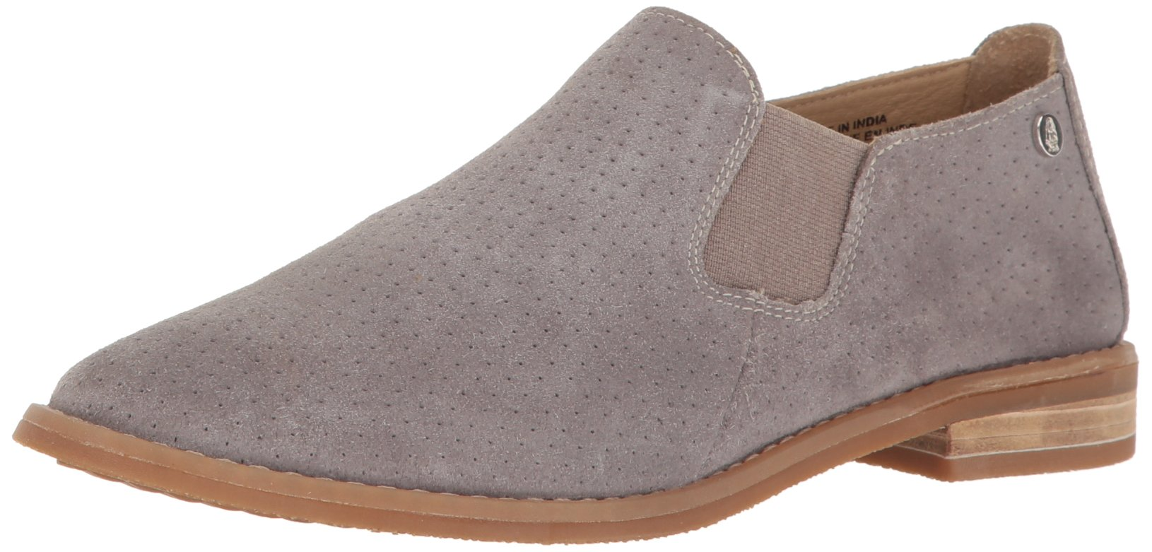 Hush Puppies Women's Analise Clever Flat, Frost Gray Suede Perforated, 9.5 W US