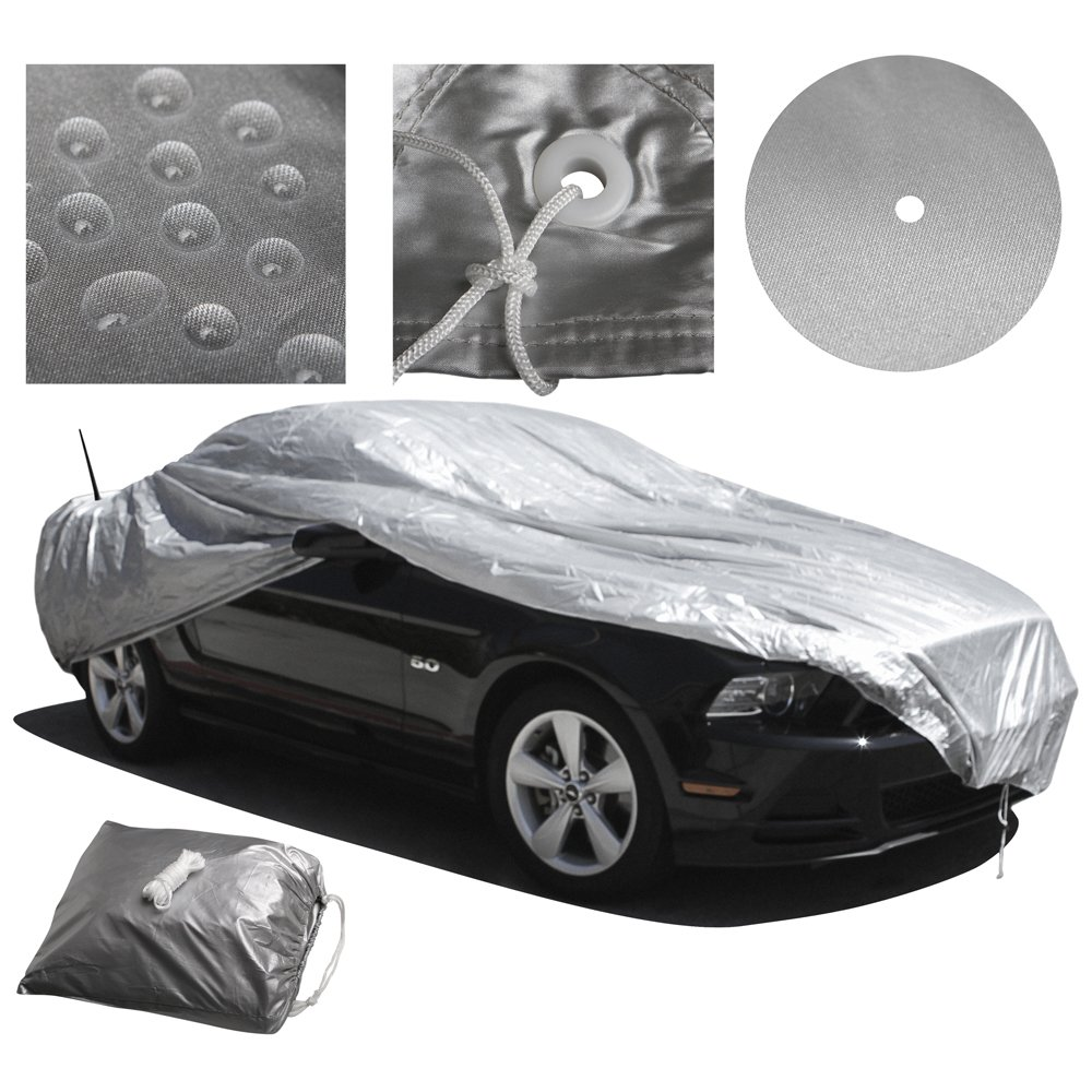 Best Reflective Method OxGord Solar-Tech Reflective Car Cover 100/% Sun-Proof Fits up to 204 Inches Ready-Fit // Semi Custom