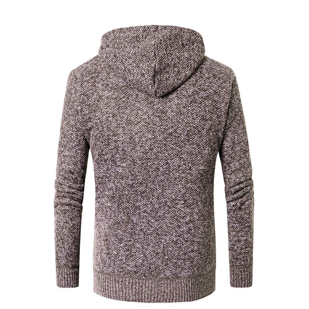 IEason Men Top Mens Casual Autumn Winter Zipper Fleece Hoodie Outwear Tops Sweater Blouse Coat
