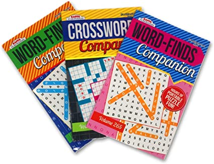 Amazon.com: Word Find Word Search & Crossword Puzzle Books (3 Pack) -  Digest Size 8.5