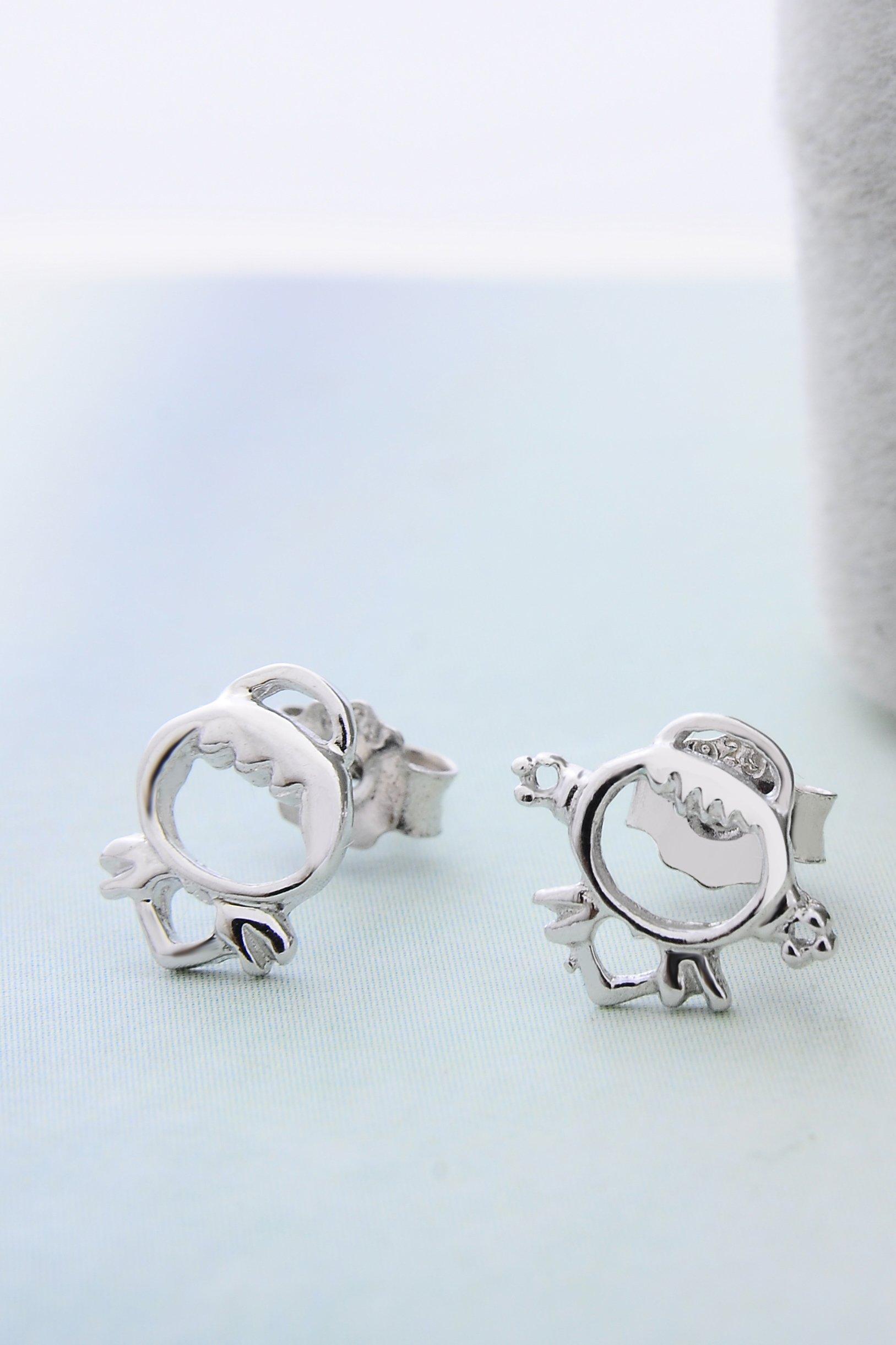 Thai Love You Angel Earrings earings Dangler Eardrop s925 Sterling Silver Women Girls Personality Elegant Woman Presents Unique Fashion Jewelry by KGELE Earrings