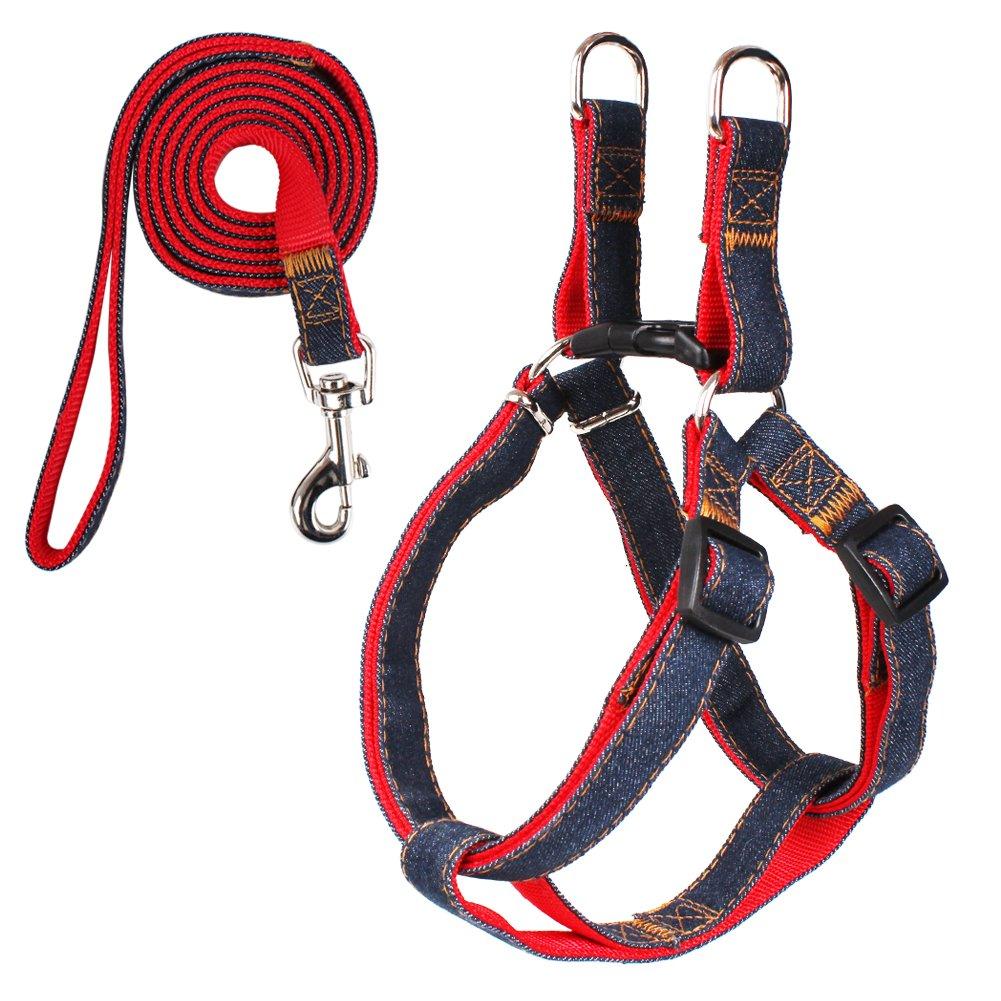 Kootek No Pull Dog Leash Harness Adjustable Dog Leash Collar for Small and Medium Dog, Comfortable for Daily Training Walking Running (Medium 18''-27'', 16-30lbs) by Kootek