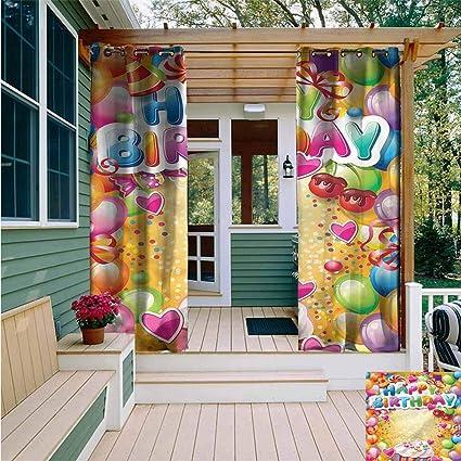 Amazon.com: AFGG - Panel de cortina para patio, caja de ...