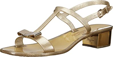 9caf5c75f6d1 Salvatore Ferragamo Women s Favilia Jelly City Sandals Beige Size  10 ...