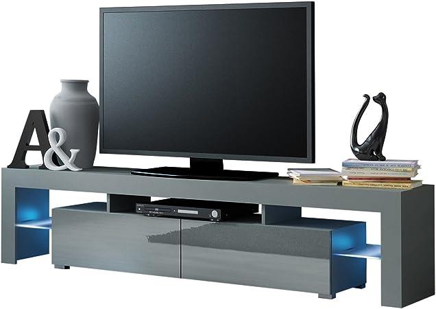 MEBLE FURNITURE & RUGS Mueble de TV con 200 Luces LED para televisores de hasta 90 Pulgadas, Alta Capacidad y Consola de TV para salón Moderno: Amazon.es: Juguetes y juegos