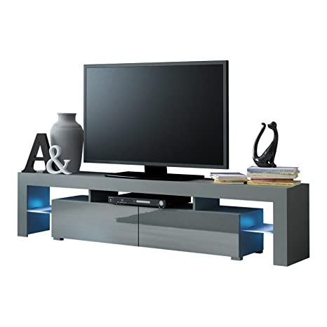 Amazon.com: Mueble de TV con 200 modernos LED para TV o ...