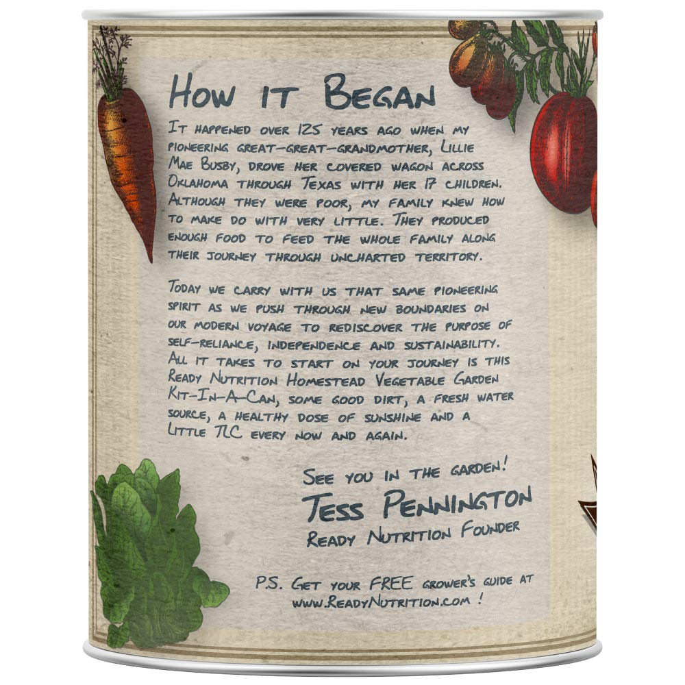 Ready Nutrition Homestead Vegetable Garden Kit-in-A-Can by Ready Nutrition Brand (Image #2)