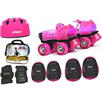 Jaspo Pink Heaven Pro junior Skates Combo (skates+helmet+knee+elbow+wrist+bag)suitable for age upto 5 years