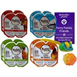 Nutro Feed Clean Grain Free Cuts in Gravy Cat Food 4 Flavor 8 Can Variety - (2) Each: Beef, Turkey, Chicken, Tuna (2.6 Ounces