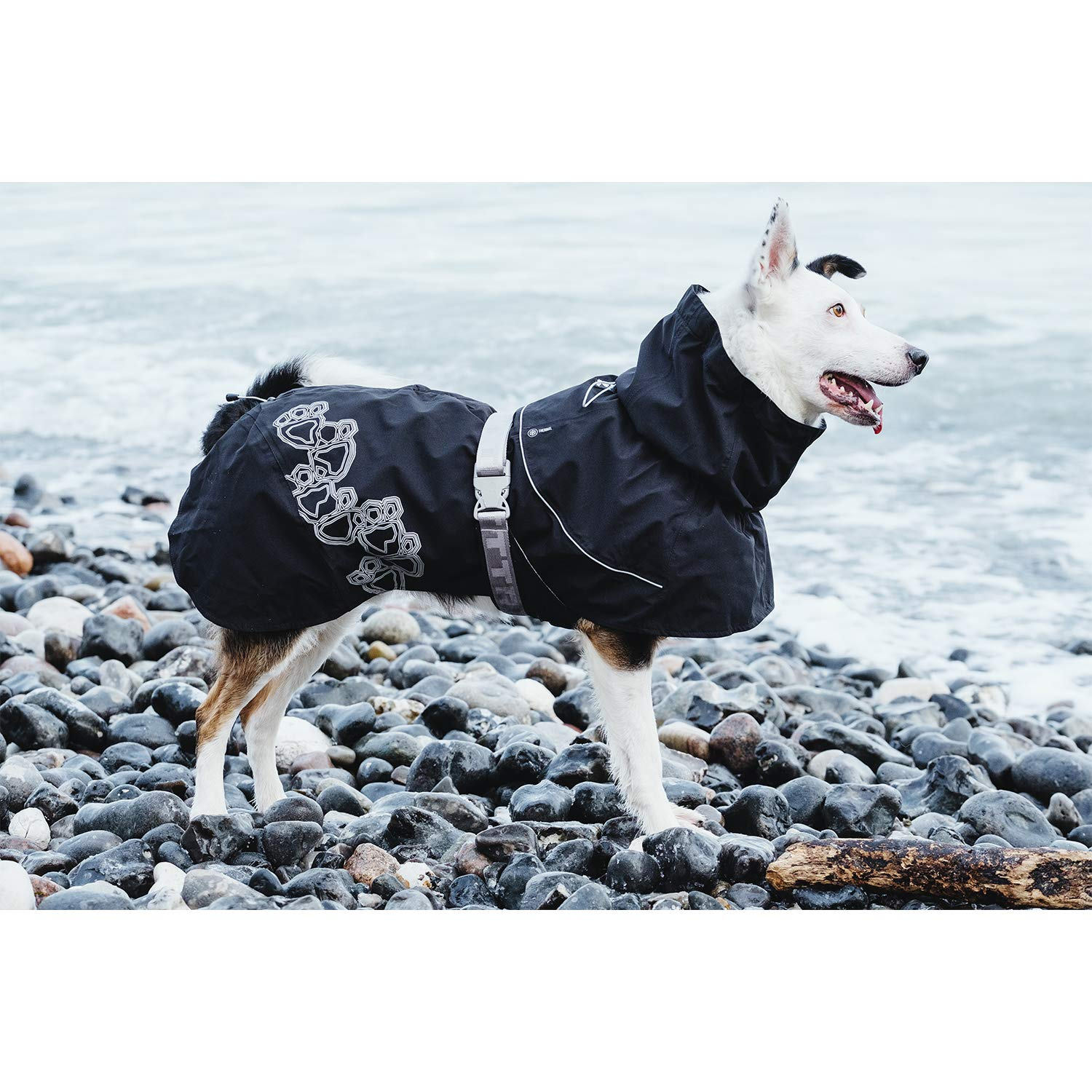 Hurtta Drizzle Coat, Dog Raincoat, Currant, 18 in by Hurtta (Image #3)