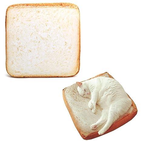 Cama para gatos y perros SanSiDo, diseño con forma de rebanada de pan