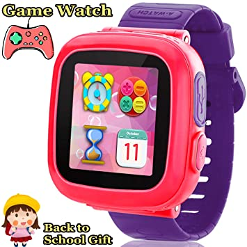 Kids Game Smart Watch - Smart Game Watch with 10 Game Camera Pedometer Timer Alarm Clock Touch Screen Kids Smart Watch Electronic Learning Toys Summer ...