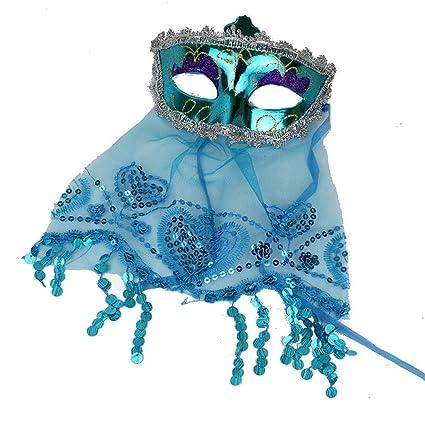 pequeños monelli mascarilla Veneciana Mujer Sexy en Azul ...