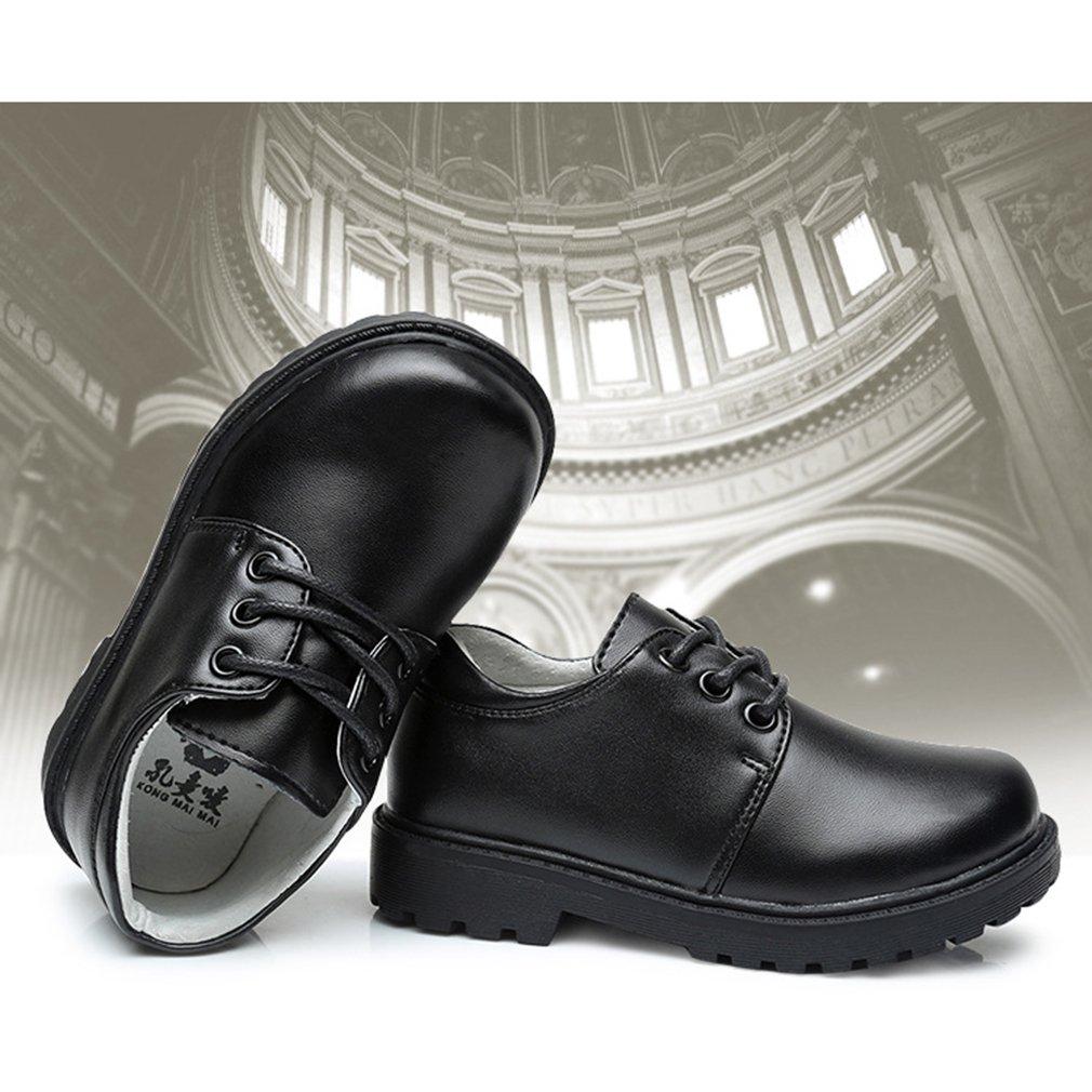 Cuir V/éritable Noir Junkai Chaussures pour Enfants Chaussures Habill/ées pour Gar/çons Filles /École Formelle Partie