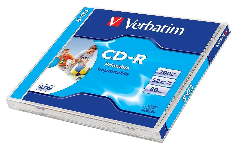 Verbatim 43324 CD-R 700MB 1pieza(s) CD en Blanco - CD-RW ...