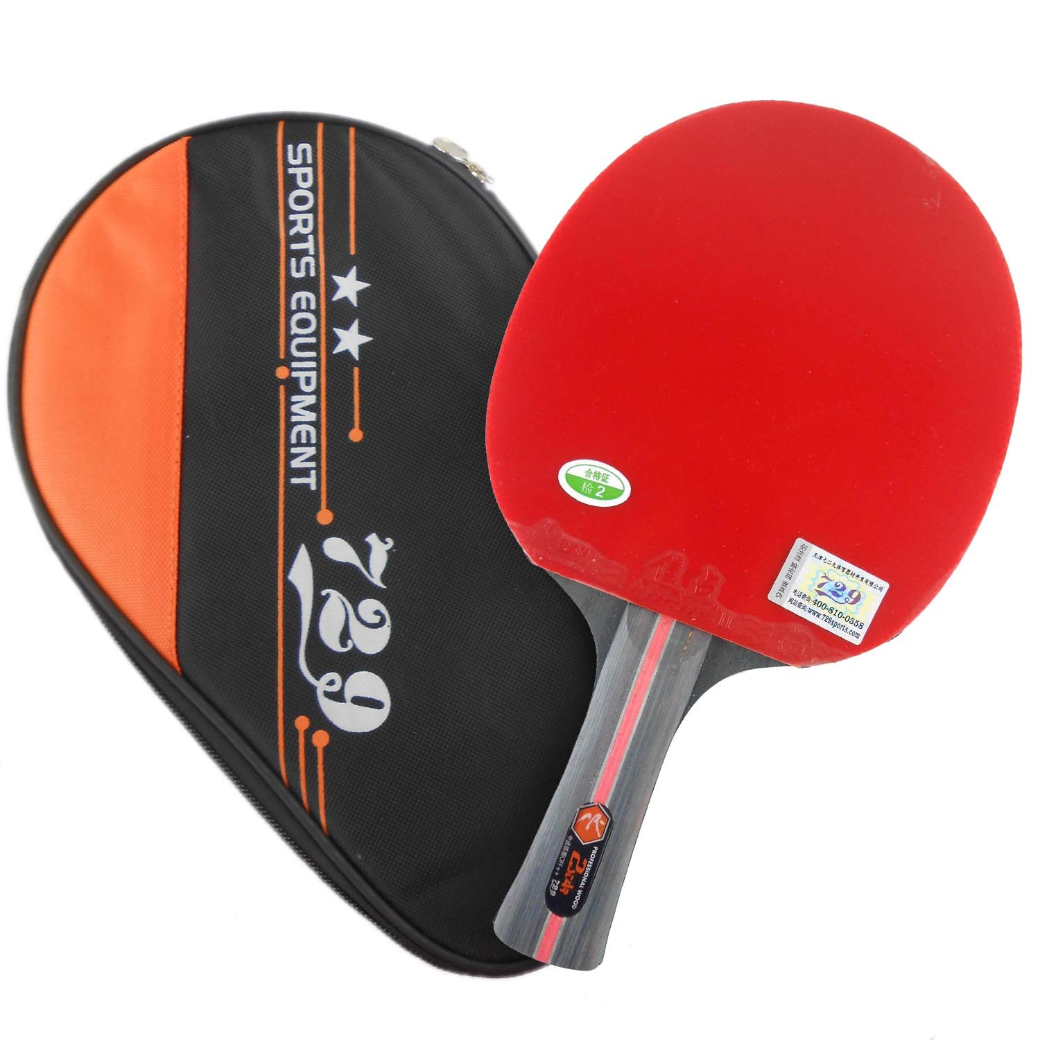 729 Friendship 2-star FL Pips in Table Tennis Racket withケース B00S4L8JQ4