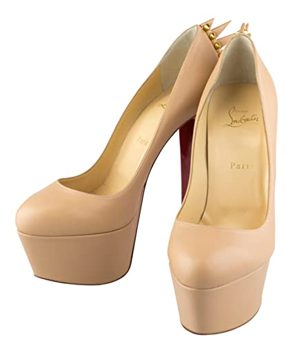 2c1d22d77e8 Image Unavailable. Image not available for. Color  CHRISTIAN LOUBOUTIN Nude  Leather Electropump 160 Spike Pump ...